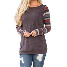 Wholesale Striped Pocket Shirt - Basic Women Blouse Shirt Tops Tee Shirts Blusa Tunic Autumn Striped Pocket Full Sleeve Loose Plus Size 3XL WS3538Z