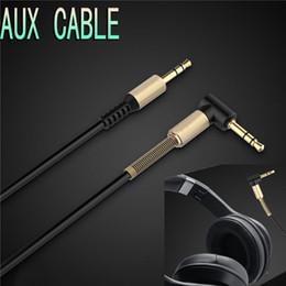 2019 tipos de conectores de altavoz 3.5mm AUX cable de audio codo de primavera 90 grados ángulo AUX macho a macho cable de cable plano para el hogar del coche estéreo iPhone auriculares