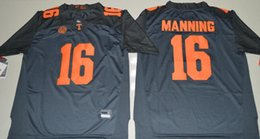 Wholesale Peyton Manning Jersey Xxl - Hot New Style 2017 Peyton Manning 16 Limited College Football Jersey,Cheap Tennessee Volunteers Jersey grey size S-XXXL