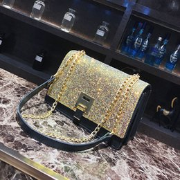 Wholesale China Luxury Bags - China Brand Shoulder Bag High Quality Leather Bag ladies Sequins Designer Brand women shoulderbags Luxury Brand crossbody bag
