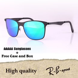Wholesale poly styrene - AAAAA+ Top quality Sunglasses Men Women Brand Designer Metal Frame Driving glasses UV400 Goggle with free cases and box