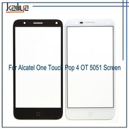 Один касание кабель онлайн-Front Outer Glass Lens Replacement For Alcatel One Touch POP4 Pop 4 OT 5051 5051D 5051J 5051M OT5051 Touch Screen Without Cable