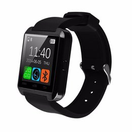 Wholesale German Outdoor Wear - U80 Smartwatch Bluetooth Smart Watch for iPhone IOS Android Smart Phone Wear Clock Wearable wristwatch Device Smartwatch