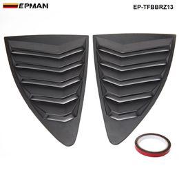 18 abs Desconto EPMAN - Para Scion Subaru BRZ 13-18 Estilo ABS Lateral Traseira Window Louver Trimestre Janela Painel EP-TFBBRZ13