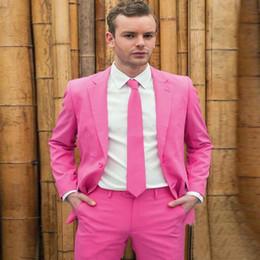 розовое свадебное платье для мужчин Скидка 2018 Короткие костюмы для жениха, британская версия свадебного платья, четыре сезона Тонкие, розовые мужские костюмы Две пьесы.