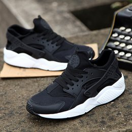 Wholesale Blue Green Shoes - Newest 2018 Huarache IV Running Shoes For Men Women, Black White High Quality Sneakers Triple Huaraches Jogging Sports Shoes Eur 5.5-11