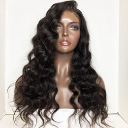 Wholesale long heavy hair - Hot Sexy Black Long Loose Deep Curly Wigs with Baby Hair Synthetic Lace Front Wig Heat Resistant Heavy Density African American Women Wigs
