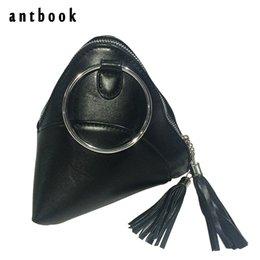 Wholesale Pyramid Bags - Mini Triangular Tassel Pyramid Lady Clutch Bag Small Top-handle Handbag Chain Messenger Bag Clutches and Purses Elegant Tote Bag