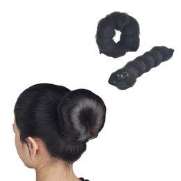 Завитки волос онлайн-2pcs/pack Women Fashion Magic Style Hair Styling Tools Buns Braiders Curling Headwear Hair Rope Band Accessories