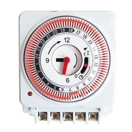temporizador 16a Rebajas Encienda el interruptor de temporizador mecánico blanco 230V 60Hz 16A Alta calidad 24 horas Industrial Timing Protect Panel