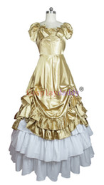 Wholesale anime cosplay gowns - Southern Belle Satin Lolitta Ball Gown Prom Dress cosplay H008