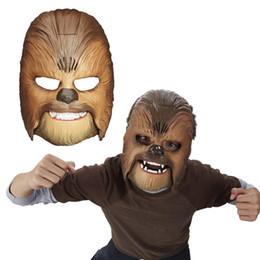 Vendita calda Raffreddare Vivid Voice Mask La Forza Risveglia Chewbacca Maschera Elettronico Luminoso Party Maschera di Halloween Giocattoli con la voce per il ragazzo da
