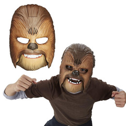 Venda quente Legal Vivid Voz Máscara A Força Desperta Chewbacca Máscara de Festa Luminosa Eletrônico Máscara de Halloween Brinquedos com Voz Para O Menino de