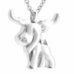 Wholesale cheap halloween skeletons - Cremation memorial jewelry Stainless Steel rhinoceros pet ash Jewelry charm Design necklace Cremation urns ashes Cheap sale