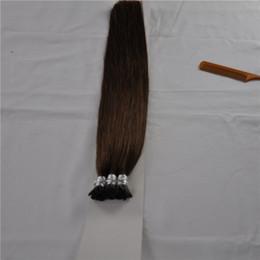 100g paketi Prebonded Fusion Saç Uzantıları StraigWave Keratin Sopa Ben İpucu Hint Prebonded İnsan Saç Uzantıları 18