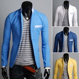 0185411f2e2 New Stylish Mens Casual Slim Fit Suit Blazer Coat Jacket Top Business