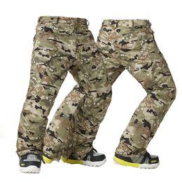 Gsou Snow men s Thicken Warm Windproof Ski Pants Waterproof Breathable  Camouflage Ski Trousers Men Winter Snowboard Pants 1d052541f