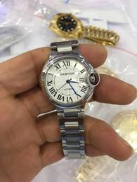 frauen silberne uhren Rabatt Fabrik-Lieferanten-Luxus-AAA-Marken-Armbanduhren alibre automatisches mechanisches 42mm 33mm weißes Vorwahlknopf-Ref W69004Z2 silberne Frauen Uhr der Männer Watche
