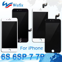 Wholesale repair lcd panel - LCD Display For iPhone 7 7 Plus 6S 6S Plus High Quality Touch Digitizer Frame Assembly Repair For free DHL shipping