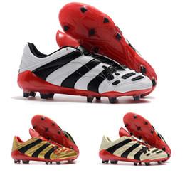 Argentina Con la caja al por mayor Envío de la gota Predator Acelerador DB David Beckham Cápsula FG Botines de fútbol Zapatos de fútbol para hombre Zapatos de fútbol Suministro