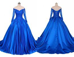 Canada Robe de soirée bleue à col en V et dentelle A-ligne A-ligne Princesse 2019 Applique Illusion Paillettes Perlée Corset cheap beaded corset evening dresses Offre