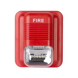 Fil dc24v en Ligne-Sirène d'alarme incendie de fil DC24V usine avec système d'alarme incendie stroboscopique pour panneau de commande d'alarme incendie