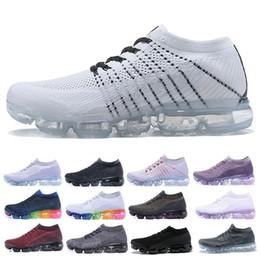 e5e2d1763 Descuento barato AIR 2018 Fly Running Shoes hombre mujer calzado deportivo  Negro rosa blanco Jogging exterior Zapatillas deportivas rebajas zapatos de  color ...