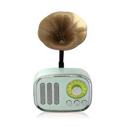 tarjetas de regalo de música Rebajas Comercio al por mayor Mini Portátil Retro Altavoces Inalámbricos Estéreo Subwoofer Loud Bluetooth Altavoz Reproductor de Música Soporte de Tarjeta TF Radio para regalos DHL