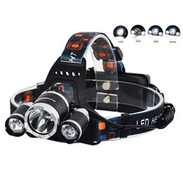 Wholesale Cree T6 Led Headlight - NEW 5000 lumen 3x CREE XM-L 3T6 LED bike light Headlight flashlight head for hunting camping XML T6 LED Headlamp