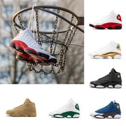 Scarpe da ginnastica di sconto online-2018 scarpe nuove a buon mercato 13s XIII equipaggia Scarpe da basket Scarpe scontate scarpe Navy Gioco ologramma grigio punta Grigio Athletics Sport Sneaker
