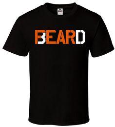 2019 bande bianche Fear The Beard - T-Shirt Black Orange \ White Gang Mustache Custom Tutte le dimensioni S-2XL bande bianche economici