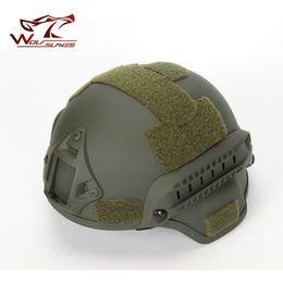 casco protector táctico Rebajas 2000 Tactical Helmet Army Ventilador Ciclismo Deportes al aire libre Riot protectora Cascos ligeros Portátil Anti-sudor Casco transpirable