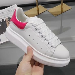 Wholesale Sneakers Shoes High Platforms - High Quality mens Fashion Luxury White Leather Brown Back Platform Shoes Flat Designer Black White sneakers for men 39-44