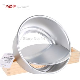 Käse schimmel online-Eloxierte Aluminium Käse Kuchenform Pan Zinn Backformen Backform abnehmbaren Boden