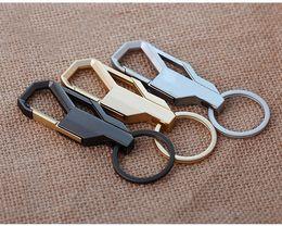 Wholesale Belt Buckle Key Chain - 3 Color Metal Fashion Men Key Chain Pants Buckle Key Ring Waist Belt Clip Key Holder Metal Car Keychain Free DHL G233S