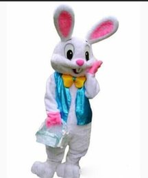 Wholesale Bunny Mascot - Factory sale hot PROFESSIONAL EASTER BUNNY MASCOT COSTUME Bugs Rabbit Hare Adult Fancy Dress Cartoon Suit nji
