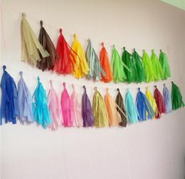 Decorações de fita de papel on-line-5 pçs / set borlas de papel colorido casamento diy decoração suprimentos festa de aniversário da fita suprimentos de decoração de casamento decoração de casamento