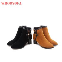 1a88bed78cb Venta 2018 Brand New Winter Fashion Negro Amarillo Mujeres Boda Botines  Señora Zapatos Tacones altos WK381 Plus Tamaño grande 10 32 43 47