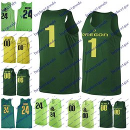 Wholesale brook s - Custom Stitched Oregon Ducks College Basketball Jerseys 1 Bol Bol 24 Louis King Dillon Brooks 4 M.J. Cage 11 Keith Smith Any Name Any Number