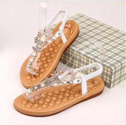 Argentina Diseñador de la marca sandalias de mujer Sandalias de moda Zapatillas de diamantes bohemias Zapatos planos de mujer Chanclas Zapatos de marca Sandalias de verano Suministro