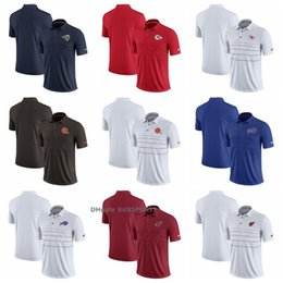 2018 Hombres Los Angeles Rams Kansas City Chiefs Polos Cleveland Browns  Buffalo Bills Cardinals Temporada Polo 5a90e04cd