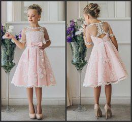 0b6eedbb9 junior bridesmaid dresses for beach Promo Codes - Knee Length Lace A-Line  2018 Junior