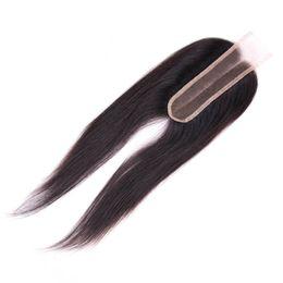 средние перуанские прямые волосы Скидка Перуанский закрытие человеческих волос 2х6 кружева закрытие прямо перуанский волос средняя часть с ребенком волос закрытие 8-20 дюймов