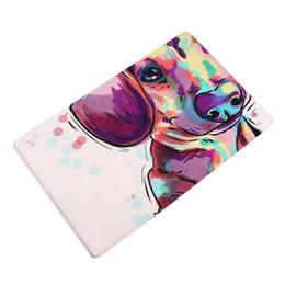 capas de laranja Desconto 3d Impresso Kit Tapete De Espuma De Memória Do Banheiro Animal Bonito Em Casa Não Slip Porta Piso Tapetes de Hall Tapetes de Cozinha Banheiro Decoração Do Tapete