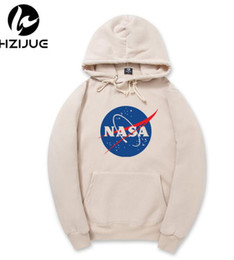 Wholesale mens v neck fleece - New Nasa Women men Hoodies pullover Hoody Sweatshirts Kanye West Style Streetwear hip hop Mens fashion Hoodies