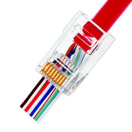 Cat6 RJ45 модульный разъем 8p8c разъем для кабеля Ethernet позолоченный 1 Гбит CAT 6 гигабит оптом Ethernet обжимной разъемы от