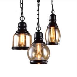 Canada vente en gros luminaire suspendu led industriel vintage loft suspension lampe moderne luminaire en fer forgé vintage industriel lumière cheap pendant light fixture wholesale Offre