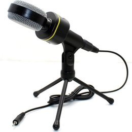 Wholesale Karaoke Laptop Microphone - SF-930 Professional Wired Stereo Computer PC Condenser Microphone With Holder Stand Clip For PC Chatting Singing Karaoke Laptop