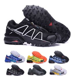 2019 scarpe uomo sapato masculino 2018 Salomon Shoes zapatos hombre Sneakers Uomo Speed Cross 4 CS III sapato masculino Speedcross Salomon 8 colori Sport running Scarpe 40-46 scarpe uomo sapato masculino economici