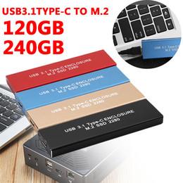 escritorio de estado sólido Rebajas Tipo-C USB 3.1 Unidad de disco duro externa SSD 120 GB 240 GB Superspeed Unidad de estado sólido externa Desktop para Windows XP MAC